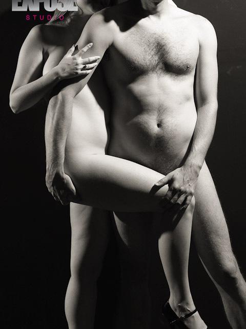 עירום זוגי - ארוטיקה ואמנות . צלם: רון אוריאל, סטודיו אקספוז